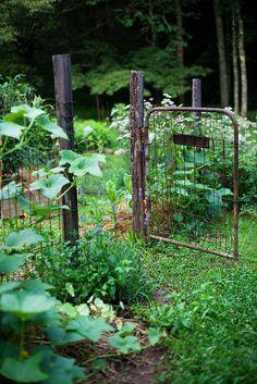 9 Well Tips: Backyard Garden Design Thoughts garden ideas kids link. Potager Garden, Garden Landscaping, Fenced Garden, Rustic Gardens, Outdoor Gardens, Indoor Outdoor, Small Gardens, Raised Gardens, Modern Gardens