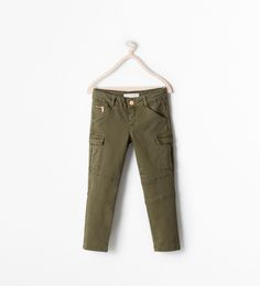 Cargo-inspired pants from Zara have an active, sporty look. Unfortunately, like virtually all girls pants right now, they are a skinny fit. That works for some girls, but not all. Sizes 3/4 - 13/14.