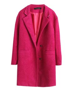$68 Copy Cat Kate: Pure Color Lapel Collar Long Coat