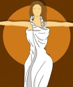 Woman Halter-neck Toga Illustration Step4