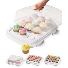 Wilton 3 in 1 Cupcake Caddy Carrier. For 12 Cupcakes, 24 Minis or 1 Large Cake