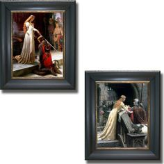 The Accolade & Godspeed by Edmund Leighton 2-pc Black & Gold Framed Canvas Set (Ready-to-Hang) by Artistic Home Gallery, http://www.amazon.com/dp/B005UT8T7C/ref=cm_sw_r_pi_dp_KP1lsb10XWZKN