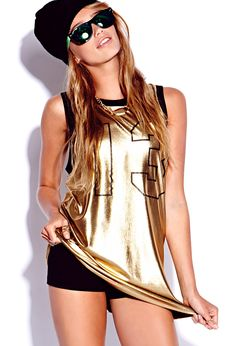 Lamé varsity top be the team stand out with this jersey dan Dance Fashion, Hip Hop Fashion, Urban Fashion, Teen Fashion, Fashion Beauty, Fashion Outfits, Style Fashion, Womens Fashion, Hip Hop Outfits