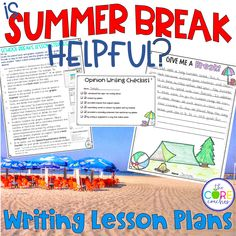 Is summer break helpful? Opinion writing lesson plans using paired texts.