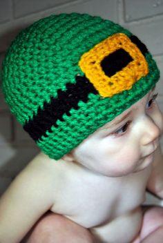Crochet St. Patrick's Day Beanie Leprechaun Hat