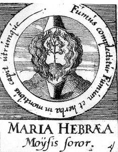 ALQUIMIA VERDADERA: Emblema 4. María, la judía, hermana de MoisésUn humo abarca otro humo, y la hierba de la montaña absorbe a los dos.