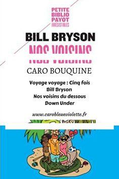 Bill Bryson nous raconte ses différents voyages en Australie. En plus d'une chanteuse des années 80, cette chronique contient des crocodiles marins qui surveillent leur ligne, de la Sachertorte, une reine égyptienne, et des références à une mini-série australienne que les moins de 30 ans ne peuvent pas connaître :-)  #BillBryson #récitdevoyage #Australie
