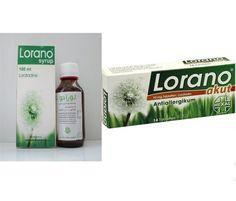Loratadine : lorano 5 tab ، 5 syrup .