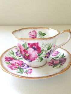 Vintage English Royal Standard Fine Bone China Tea Cup and Saucer Tea Party