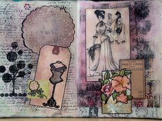 The Mixed Media Scrap Pit: Vintage Ladies in my Art Journal