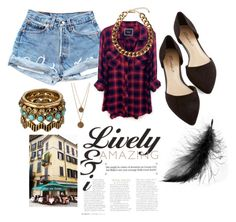 Lunch by andreaher on Polyvore featuring polyvore, fashion, style, Rails, Lucky Brand, Bee Charming and Club Manhattan