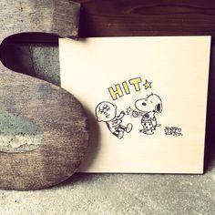 peanuts snoopy wood