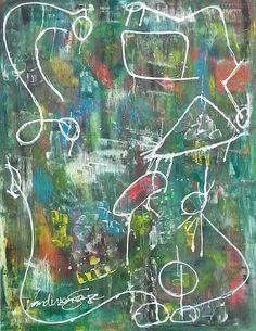 Técnica mista sobre tela Wanderson Souza  Modern Art Painting Abstract  Mixed Media