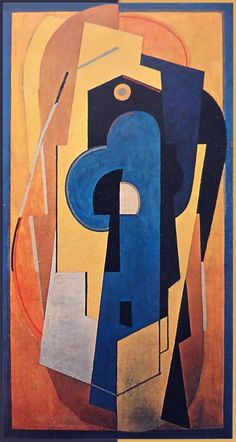 Albert Gleizes, 1921, Composition bleu et jaune (Composition jaune), oil on canvas, 200.5 x 110 cm DSC00547 - Abstract art - Wikipedia, the free encyclopedia