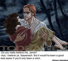 "By Alex Oliver: Claire and Jamie from Diana Gabaldon's ""Outlander"""