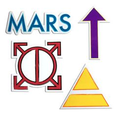"We love this all-new Thirty Seconds To Mars sticker pack!  Includes an Orbis Epsilon, Triad, Arrow, and MARS outline.  Stick them on on your favorite gear!  Sticker measurements below:  Mars: 2"" x 6.5""  Arrow: 5"" x 2.7""  Orbis: 3"" x 3""  Triad: 4"" x 4.6"""