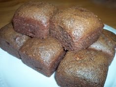 Chocolate Whole Wheat Banana Bread Muffins    Made with flax seed meal, 1/2 c applesauce and no nuts each muffin is 183 calories, 6 grams fat, 32 carbs, 3 protein and 3 fiber.