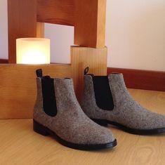 Botins Chelsea em cor cinza mesclado, numa edição limitada! Aproveita a oportunidade e adquire-os na nossa loja on-line... Chelsea Boots in a light gray color, in a limited edition! Take the opportunity and get them in our online store...😊😊😊 #realis_shoes #realis #shoes #boots #madeinportugal #portuguesebrand #serradaestrela #fashion #style #burel #quality #modafeminina #shoeslovers #trends #color #confort Ps, Chelsea Boots, Ankle, Instagram, Fashion, Ash Color, Feminine Fashion, Colors, Moda