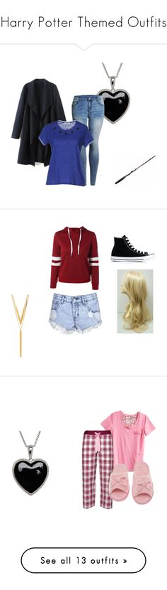 """""""Harry Potter Themed Outfits"""" by therebelgal ❤ liked on Polyvore featuring Lord & Taylor, Suncoo, Glamorous, Converse, BERRICLE, Vera Bradley, Cyberjammies, Deluxe Comfort, Velvet by Graham & Spencer and Boohoo"""