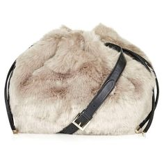 Topshop Faux Fur Duffel Bag ($35) ❤ liked on Polyvore featuring bags, luggage and nude multi