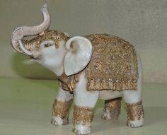 Elephant Love, Elephant Art, Wooden Ornaments, Christmas Ornaments, Indian Gods, Animal Sculptures, Mosaic Art, Santa, Diy Crafts