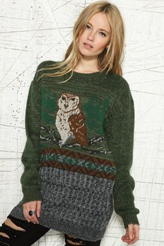 Staring At Stars Owl Jumper.