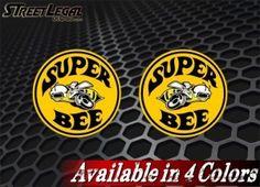 """2 Super Bee Dodge 3'' or 9"""" Vinyl Decals"""