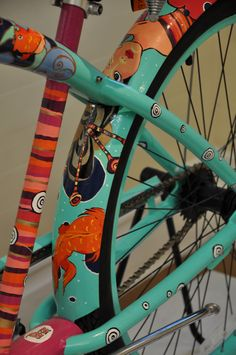 Hand Painted Art Bicycle. Eatonbikes.com