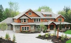 Architectural Designs 4 bedroom dream home. But I'd have to custom make it a log exterior