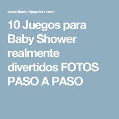 10 Juegos para Baby Shower realmente divertidos FOTOS PASO A PASO