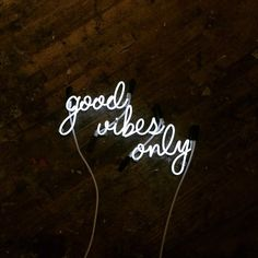"""""""Good Vibes Only"""" neon sign, $975, etsy.com"""
