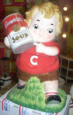 *CAMPBELLS SOUP KID ~ Cookie Jar SOLD/Available at Jazz'e Junque in Chicago ~ www.jazzejunque.com