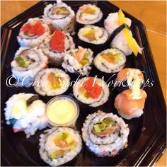Sushi made by our sushiworkshop-participants