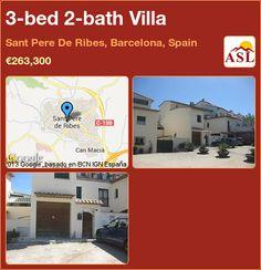 3-bed 2-bath Villa in Sant Pere De Ribes, Barcelona, Spain ►€263,300 #PropertyForSaleInSpain
