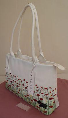 0d01b810853 Radley Large White Picture Shoulder Bag - BNWT -