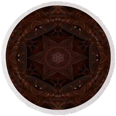Brown Mandala Pattern Round Beach Towel by Lenka Rottova. The beach towel is in diameter and made from polyester fabric. Beach Towel Bag, Mandala Pattern, Summer Essentials, Towels, Technology, Brown, Bags, Home Decor, Tech