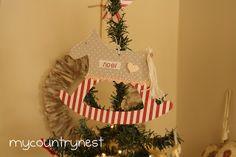 My country nest: Idee cucito: altre decorazioni per l'albero ( e non solo)