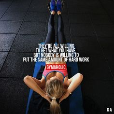 Being fit is hard work and dedication!!!