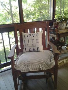 Perfect Place to relax...my lakehouse porch!