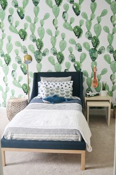 Boys wallpaper can be hard to find but such a fun and gorgeous way to finish off any boys room - check out this post for several examples of wallpaper being used perfectly in a boys room. Bedroom Themes, Bedroom Sets, Bedroom Decor, Modern Boys Rooms, Modern Room, Kids Bedroom Boys, Kids Rooms, Kid Bedrooms, Boys Room Wallpaper