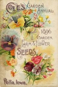 """Seed Catalogs from Smithsonian Institution Libraries Julie Cruzan via Christie Repasy ~ """"Chateau de Fleurs"""" onto Printables~Clip Art"""