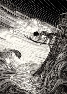 http://www.123inspiration.com/spectacular-ink-illustrations-by-nico-delort #AmazingArt