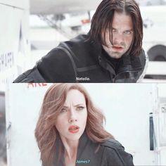 """""""Natalia."""" """"James?"""" / Natasha and Bucky"""