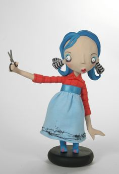 cutting board club doll by the fantastic Jill Penney, inspired by drawings by Daniel Torrente