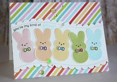 These peeps look so good I could eat them! Thanks for the Simon Says Stamp Card Kit inspo, Nichol!
