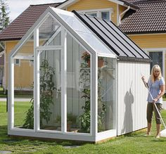 Wooden greenhouse / with tool shed - THRILL - Kekkila