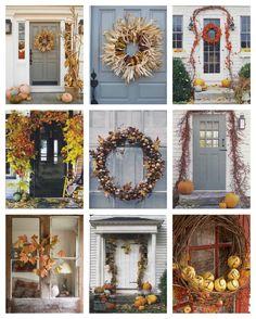 New England Autumn Door Decorating Ideas