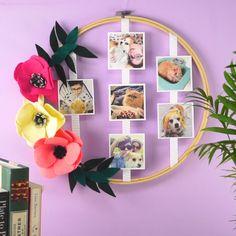 Puedes tener un detalle muy tierno con una persona especial, con este bonito Marco de Fotos en Basti Diy Room Decor Videos, Cute Diy Room Decor, Diy Bedroom Decor, Diy Home Decor, Decor Crafts, Diy Decoration, Room Decorations, Diy Para A Casa, Diy Crafts To Do