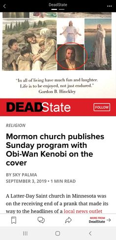 Latter Days, Latter Day Saints, Obi Wan, Minnesota, Laughter, Religion, Reading, Movie Posters, Fun