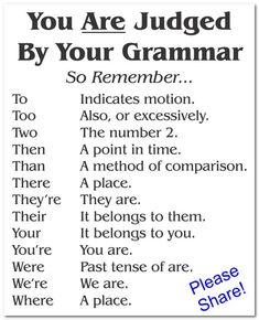 Good Grammar, Good Vocabulary Words, Grammar Tips, Grammar Lessons, English Grammar, English Language, Grammar Memes, Basic Grammar, Vocabulary Games